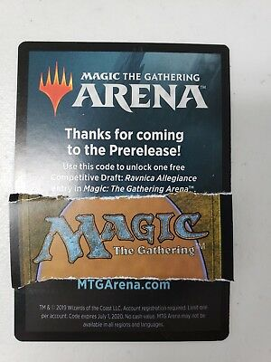 MTG ARENA PROMO code War of the spark Prerelease Competitive