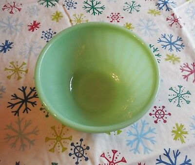 """Vintage FIRE KING Oven Ware Jadeite Green~Small 6"""" Swirl Mixing Bowl~nesting pc."""
