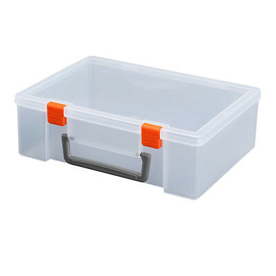 1pc Plastic Storage Bin Hinged Storage Case Container for Blocks Puzzles Crayons