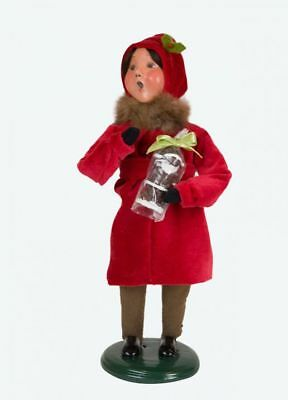 +Byers Choice Victorian Girl with Santa New