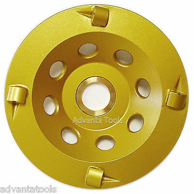 "4"" Quarter Round PCD Grinding Cup Wheel 4 Segments - 7/8""-5/8"" Arbor"