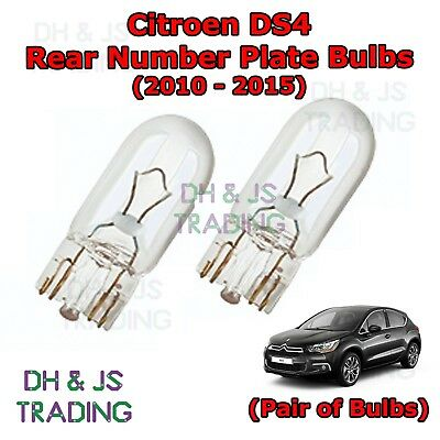 Fits Citroen DS4 1.6 TBHP 200 White 12-SMD LED COB 12v Number Plate Light Bulb