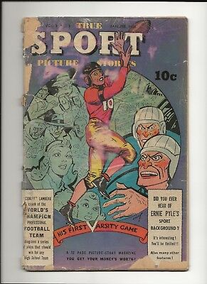 TRUE SPORT PICTURE STORIES v3 #5 1946 STREET AND SMITH GOLDEN AGE SPORTS PR