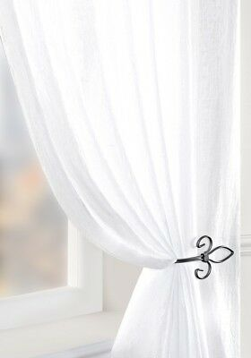 Mirabel Voile Panels Net Curtains - White Lace Curtain Nets - Sold By The Metre