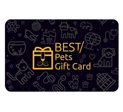 Best Pets Gift Card $30 & $50 - Digital Gift Card