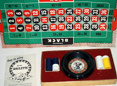 Vintage Roulette Game by ES Lowe USA in Box Wheel Board Chips Set