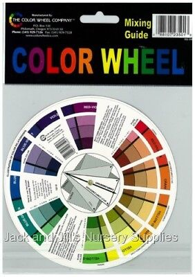 POCKET COLOUR WHEEL MIXING GUIDE ~ 13cm - from Jack and Jill's Nursery Supplies