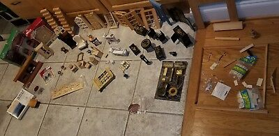 Vintage Dollhouse Miniature Furn, some new, some not. better quality than most