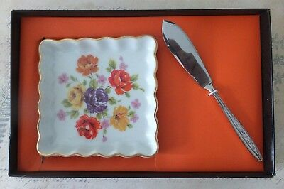 Westminster Fine Bone China Butter Dish & Butter Knife 1233