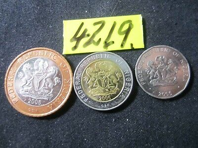 3 x assorted coins from  Nigeria      27  gms      Mar4219
