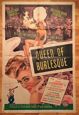 1946 - QUEEN OF BURLESQUE - Evelyn Ankers - ORIGINAL MOVIE POSTER 27x41 1 Sht