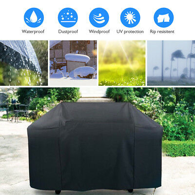 """57"""" BBQ Grill Cover Gas Barbecue Heavy Duty Waterproof Outdoor Black US Stock"""
