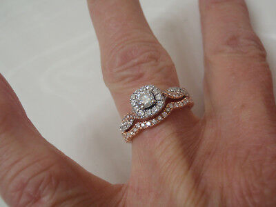 c066dddb4 Neil Lane 3/4 Ctw Engagement Ring Wedding Band Set Rose/White Gold 3099.00