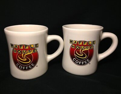 Set Of 2 Waffle House Coffee Mug Cup Thick Vintage Diner Style Tuxton Restaurant