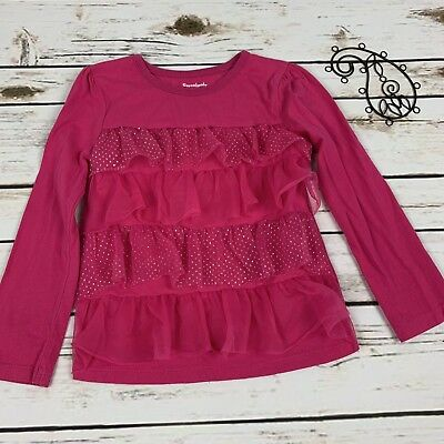 Garanimals Girls Shirt Pink Size 4t Ruffles Sparkle Long Sleeve