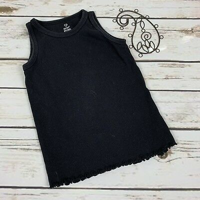 Old Navy Girls Tank Top Black Size 3t Ribbed
