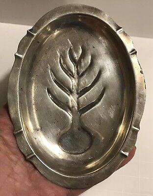 "Antique F.B.ROGERS SILVER CO Sterling Silver TREE OF LIFE 5"" Trinket Tray #147"