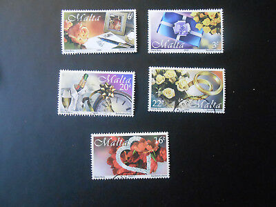 Malta:  Complete set of 5. SC #998-1002. Issued 2000. Used Lot # 8036