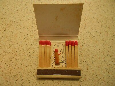 Funny trick match book unused,when I was a year old stiff willy upon opening lid