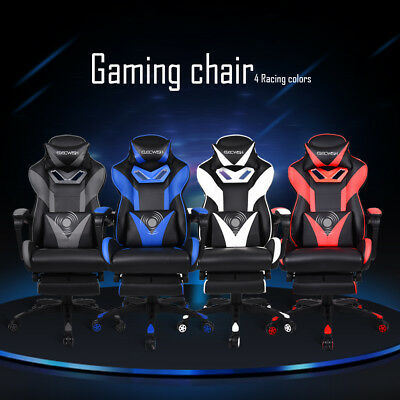 Ergonomic Gaming Chair Racing Style Swivel High Back Computer Desk Office Seat