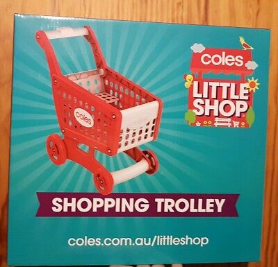 Coles Little Shop shopping Trolley- brand new- unopened