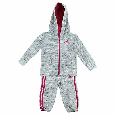 Girls Adidas 2 Piece Jacket Pants Tracksuit Set:Sizes: 5, 6