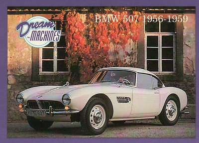 BMW 507 1956-1959, Dream Machines, Cars, Trading Card, Automobile - Not Postcard