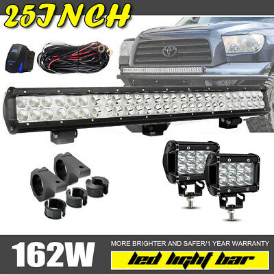 25Inch 162W Slim Led Light Bar Flood Spot Fit Offroad 4X4Wd Ford Driving Lamp 24