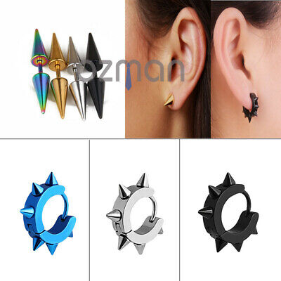 1pc 10mm Mens Womens Surgical Titanium Thorn coronule Earrings Ear Stud Piercing