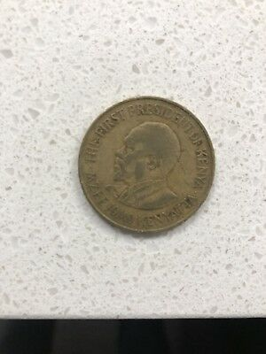 1969 Republic Of Kenya Coin 10 CENT