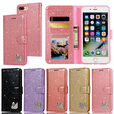 Glitter Wallet Leather Flip Cover Case For iPhone 5S 6S 7 8 Plus XS X XR XS Max