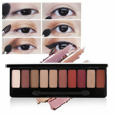 Lasting Brighten Eyeshadow Palette Matte Shimmer Highlight Powder Eye Cosmetics