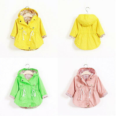 Jacket Parka Autumn Kid Outerwear Baby Infant 2-7y Girls Hooded Toddler Coat