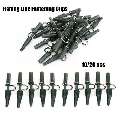 10/20pcs Carp Fishing Outdoor Safety Lead Clips Kit for Fishing Tackle Equipment