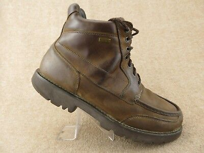 new styles 5a33e 649e2 ROCKPORT Leather Gore-Tex Waterproof Brown Sz 11.5 N Narrow Hiking Boots