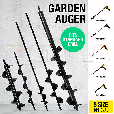Power Garden Auger Small Earth Planter Drill Bit Post Hole Digger 30CM/37CM/57CM