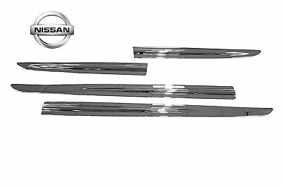 4X Nissan Genuine Leaf ZE0 Chrome Strip Door Sills Protectors KE7603N000