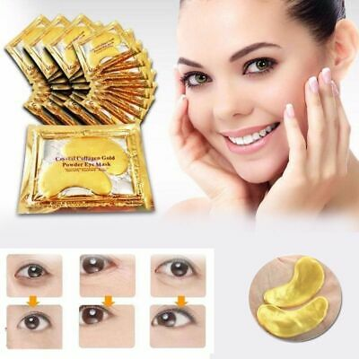 Crystal Collagen 24k Gold Under Eye Gel Pad Eye Mask Anti Aging Wrinkle Lines
