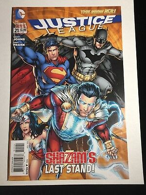 DC New 52 JUSTICE LEAGUE #21 Variant 1st Marvel Family SHAZAM 7 Deadly Sins