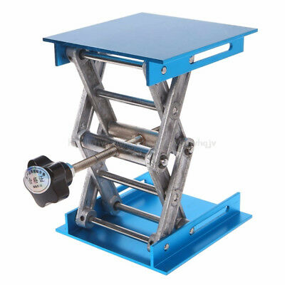 4 x 4'' Aluminum Router Table Lift Woodworking Engraving Lifting Stand Rack Lab