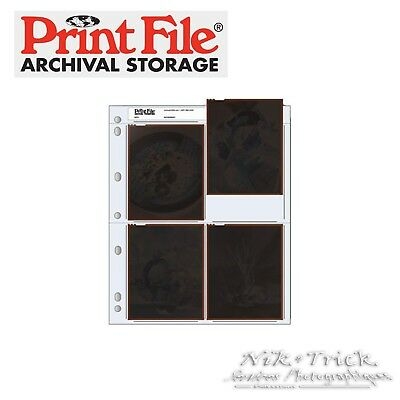 Printfile Archival Negative Sleeves ~ Pack of 100 Sheets for 5x4 (4x5) Film