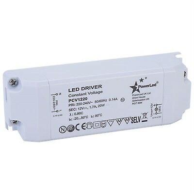 PowerLED PCV1220 Constant Voltage LED Power Supply 12V 0-1.7A 20W