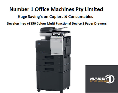 Develop Ineo +3350 Colour Copy,Fax,Network Print,Scan,Email, 1 Year Warranty