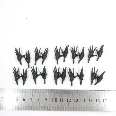 """10 PAIR OF THE Marvel Legends Series Black HAND Open For 6"""" Figure"""