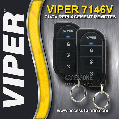 Pair Of Viper 7146V 1-Way 4-Button Replacement Remote Controls New 7142V Upgrade