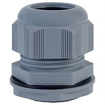 Alpha Wire PPC29 SL080 PG29 Slate Dome IP68 Cable Gland Pck of 10