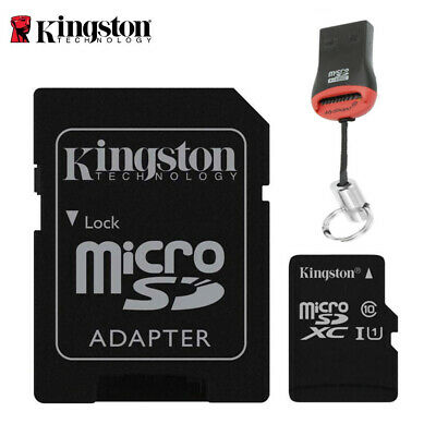 32GB MicroSD Speicherkarte Micro SDXC Class 10 Kingston + USB SD Kartenleser
