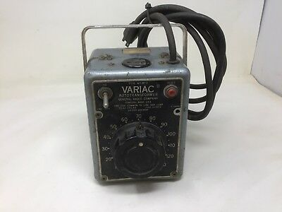 General Radio Variac Autotransformer W5 MT3 - 0 to 140 volts. Tested Free Ship