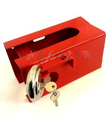 UNIVERSAL coupling hitch lock padlock caravan trailer strong steel box tow ball