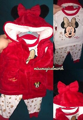 Brand New Primark Baby's Disney Minnie Mouse Pyjama & Dressing Gown Set